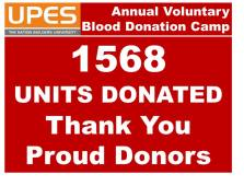 UPES blood donation