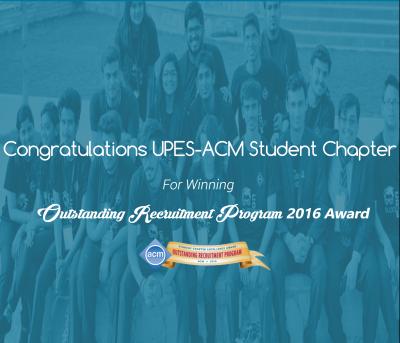 UPES ACM award